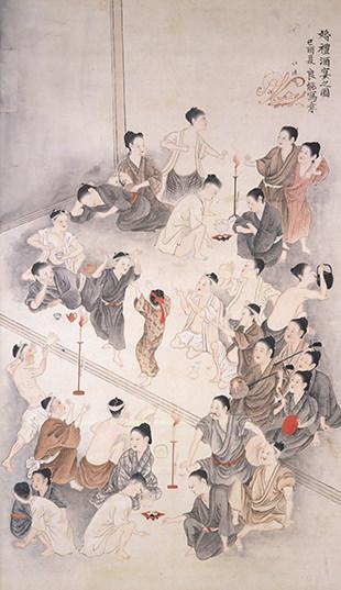 婚礼酒宴之図/沖縄県立博物館・美術館所蔵